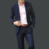 Male slim business formal blazer set male suit formal dress work wear male set casual