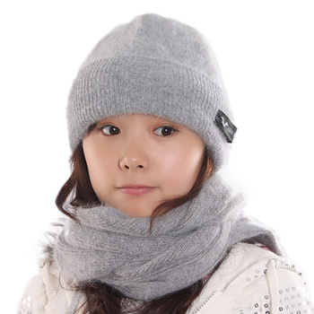 hot sale Winter women's hat scarf kit quality thermal twinset thick ladies gentlewomen  female hat scarf set