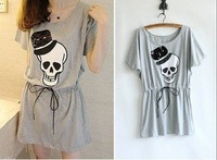 Free Shipping 1pc/lot women skull dress punk fashion dresses,plus size