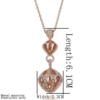 Free shipping 18K GP gold plated jewelry necklace fine fashion lantern rhinestone crystal nickel free pendant necklace SMTPN151