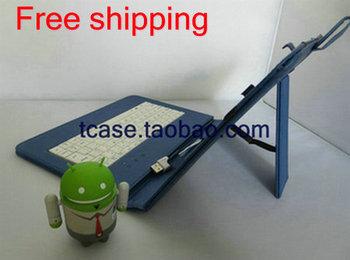 "Stand USB Keyboard Leather Case For 10.1"" REDFOX WizPAD T1030iW MSI WindPad Enjoy 10 Plus Tablet+Stylus+Flim Free Shipping"