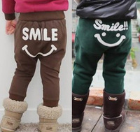 Free shipping! Fall and winter children trousers wholesale kids baby boys and girls velvet Harlan pants casual pants