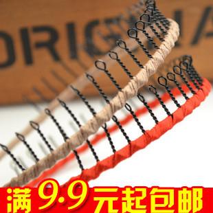 (Mix Min order $10) E6157 accessories circle fabric spirally-wound headband hair bands silks and satins metal hair bands