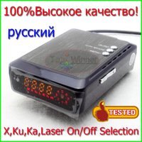 New Arrival 100% Orignal High Quality Car Radar Detector Laser 360 Russian Voice On/Off X,Ku,K,Ka,Laser Radar Bands Freeshipping
