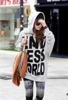 Free Shipping,2013 New Arrival Women's Letter Hoodies Coat,Velvet Fleece Sweatshirt,Winter Jacket Leisure Suit