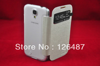Colourful leather case with back cover for Samsung Galaxy S4 i9500 in white