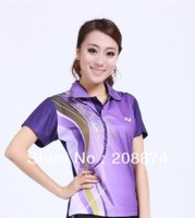 Wholesale The new summer badminton B608 team sports lovers t-shirts