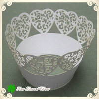 "Wholesale!! 100pcs/lots White ""heart""  Wedding cupcake wrappers, soft silicone mold cake,baking cups,muffin cases dots!!"