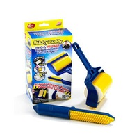 Bling Recommend Free Shipping Sticky Buddy Reusable Sticky Picker Upper Roller With Built-in Fingers As Seen On TV