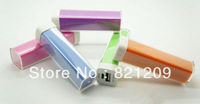 Free shipping New Colorful Portable External USB 2600mAh Cell Phone Battery Charger Power Bank
