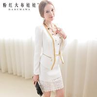 2013 Suit jacket  white gold chain slim woolen outerwear
