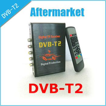 Free shipping,car dvb t2 tuner hd,car digital tv receiver,Storage for 2000 channels,use in Russia,Europe