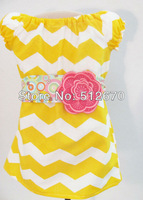 2013 Hot sale children clothing girls dress cotton chevron dress