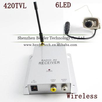 1.2GHz Wireless Mini Camera + Wireless Video&Audio Receiver CCTV Camera Kit Mini Wireless Cctv Camera Transmitter & Receiver