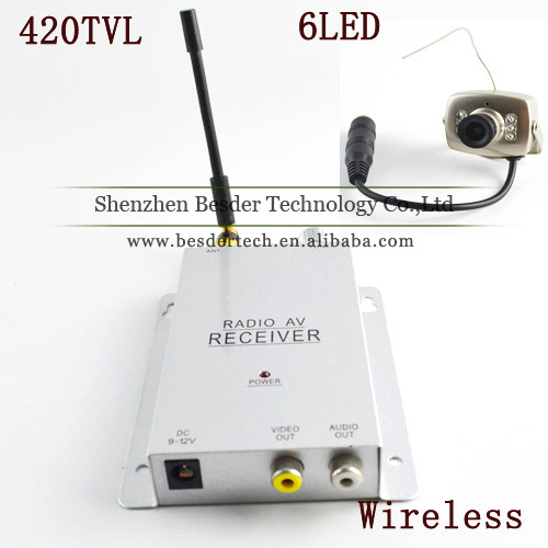 1.2GHz Wireless Mini Camera + Wireless Video&Audio Receiver CCTV Camera Kit Mini Wireless Cctv Camera Transmitter & Receiver(China (Mainland))