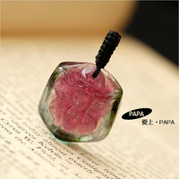 Papa glass kind of three-color tourmaline 9.1 tourmaline pendant seiko sculpture