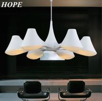 Nordic Style modern simple light white pendant light E14 with 6 pcs