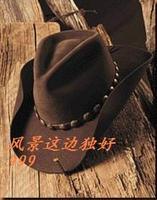Wool fedoras waterproof wrinkle-free riding hat cowboy hat male women's cowboy hat