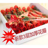 Single rose soap flower with diamond teachers day gift