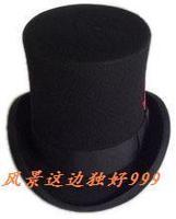 new style fashion top 100% Wool felt fedoras president equestrian cap magic hat male caps women's hats free shipping