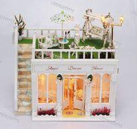 Hot sale ! Diy wood dollhouse Large size  handmade miniature doll house model  building of dream house