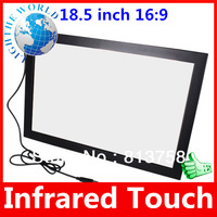 18.5 inch 16:9 5 Wire USB Plug  Infrared Multi Touch Screen Panel kit for Win7/8 Play Infrared touch screen usb touch screen