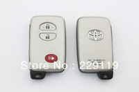 Free Shipping Toyota Camry  Intelligent Smart Car 2+1 Button Card  Car Blank Key Shell Sliver Color With Small Intelligent Blade