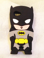 Lovely Fashion 3D Hero Batman Silicone Soft Case Cover For Sony Xperia J ST26i