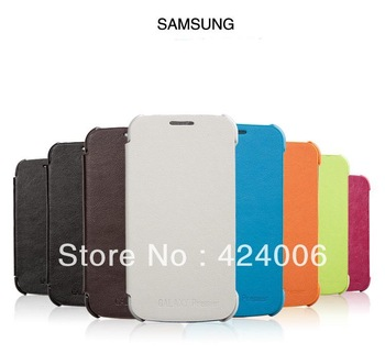 Luxury PU leather case for Galaxy i9260 ,8 colors Orange,green,pink,brown,black,blue,gray,white case for samsung,free shipping!!