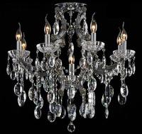 Modern Fashion K9 Crystal Chandelier Living Room Lamp D750mm H650mm 9 Lights