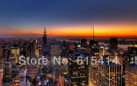 "07 New York skyline view cityscape 51""x32"" Inch Wallpapr Sticker Poster"