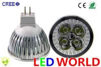 Spotlight bulbs Ceiling light& led bulbs MR16 GU10 E27 B22 E14 GU5.3 4x3W 12W Spotlight Lamp 4 CREE LED12V Light Bulb Downlight
