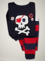 2-7 Years Boys Skull Striped Pajamas Children Cool Long Sleeve Sleepwear Baby Cotton Garments 2Pcs Clothing Set