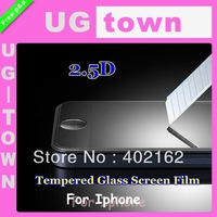 2.5D Tempered Glass Film Screen Protector For Iphone 4 4s  Free Shipping