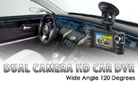 HD 720P Car DVR Dual Cam H.264 video recorder 2.7'' Screen 180 degree rotated lens F20 update to F30