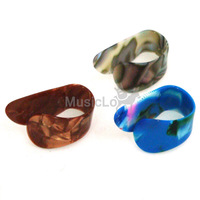 3 x Guitar Finger Thumb Picks Plectrum Medium Celluloid
