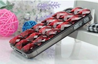 Drop SHipping! 3D Luxury Bling Crystal Diamond Rhinestone Hard Back Cover Case For iphone 5 Case, Mix Color