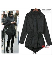 Free shipping Windbreaker for women,Fashion jacket,Long coat  6 sizes L/XL/2XL/3XL/4XL/5XL