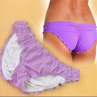 2013  free shipping   hot sale original purple  bikini bottoms only  genuine brand women sexy beach short  pants  xs s m l 4size