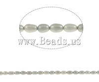 Free shipping!!!Rice Cultured Freshwater Pearl Beads,sexy,chinese jewelry, grey, 5-6mm, Hole:Approx 0.8mm