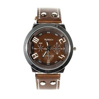 New 2013 Male sports watch vintage brown watchband dial charming fashion male strap watch  Relogio
