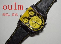 New 2013 Multicolour oulm male movement watch trend color vintage fashion leather watch  Relogio