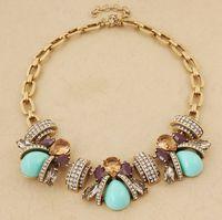 Minimum Order $20 (mixed order)   fashion flower short ladybug design chain necklace