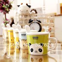 High Quality  Animation Mugs  Cute Cartoon Animal Sumiyaki Coffee Cup  Small Mark Milk Cup with spoon and lid