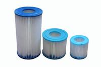 Laminated pool filter pump water filter cartridge consumables