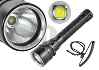 New Portable 100m Underwater Diving CREE XM-L T6 Led Flashlight 1200LM Torch +Charger+2x18650 014894 Free Shipping
