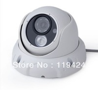 "1/3""CMOS 1000tvl IR-CUT Filter 6MM lens 1pcs Array IR LED Outdoor/Indoor Waterproof  Metal shell Dome Video Security CCTV Camera"