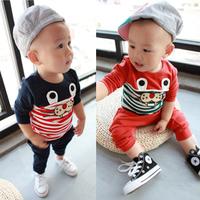 Male child autumn set 2013 children's clothing baby boy sports clothes set