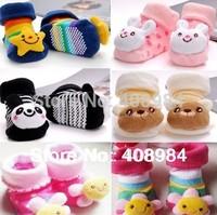 free shipping  Newborn Socks / Baby Kids Infant Shoes  Anti-slip  Toddler