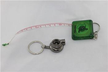 Free shipping  polished and silver revolving turbine car key ring 2013 fashionable noble type keychain 3pcs/lot car key chain